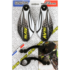 AVS Racing Handschutz Kit mit Design black/white